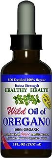 Healthy-Health's Wild Mediterranean Oil of Oregano, Extra Strength, ECO Certified Organic Oregano Oil, 83% Carvacrol, 1 fl...