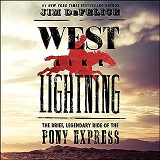 West Like Lightning audiobook cover art