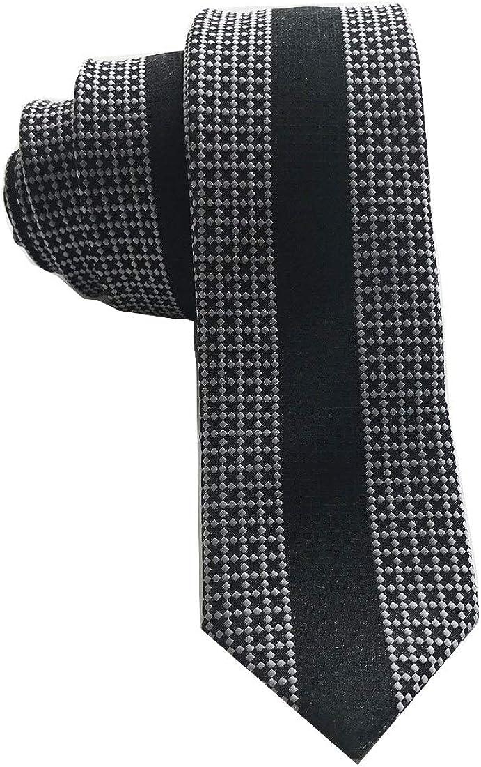 Melody Vertical Stripes Design Men's Fashion Cravat Ties Casual Skinny Slim Necktie