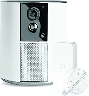 Somfy One + 2401493, Alarma para casa, sirena integrada de 90dB, detector de movimiento, detector para puertas y cámara con visión nocturna 1080