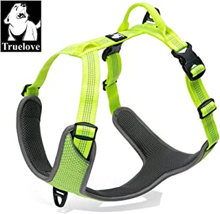 TRUE LOVE Dog Harness Outdoor Adventure II Reflective Vest 2 Leash Attachments Matching Leash Collar Available TLH6071