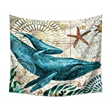 Brandless Dibujos Animados océano Tapiz Animal Pulpo Vida Marina decoración Colgante de Pared para Dormitorio Sala de Estar tapices de Pared