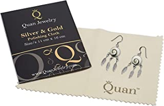 Quan Jewelry Silver Polishing Cleaning Cloth, Restoration for Jewelry, Anti Tarnish Gold and Sterling Silver Cleaner, Non ...
