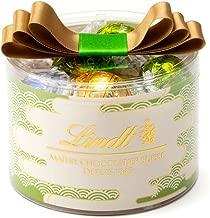 リンツ (Lindt) チョコレート リンドール リボンギフトボックス 抹茶 [ 和柄デザイン ] 個包装 16個入り ショッピングバッグS付