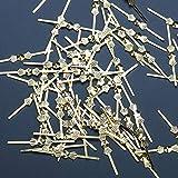 300 Pinzas de Metal Doradas Para Cristales de Cierre, Cristales de Feng Shui, cristales de araña, conector chapado en oro de 45 mm