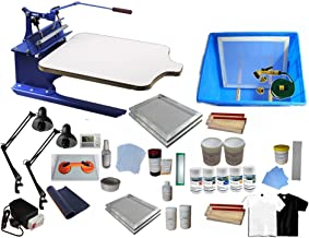 Single Color Screen Printing Kit T-Shirt Printing Press Machine with Exposure Unit