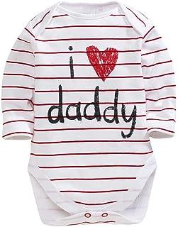 Bodies Bebe Manga Larga Unisex Rayas Pelele para Dormir Bebé Pijamas Body Bebe Manga Larga Recien Nacido Monos para bebé Manga Larga Niñas Mameluco Ropa de Niños Niña