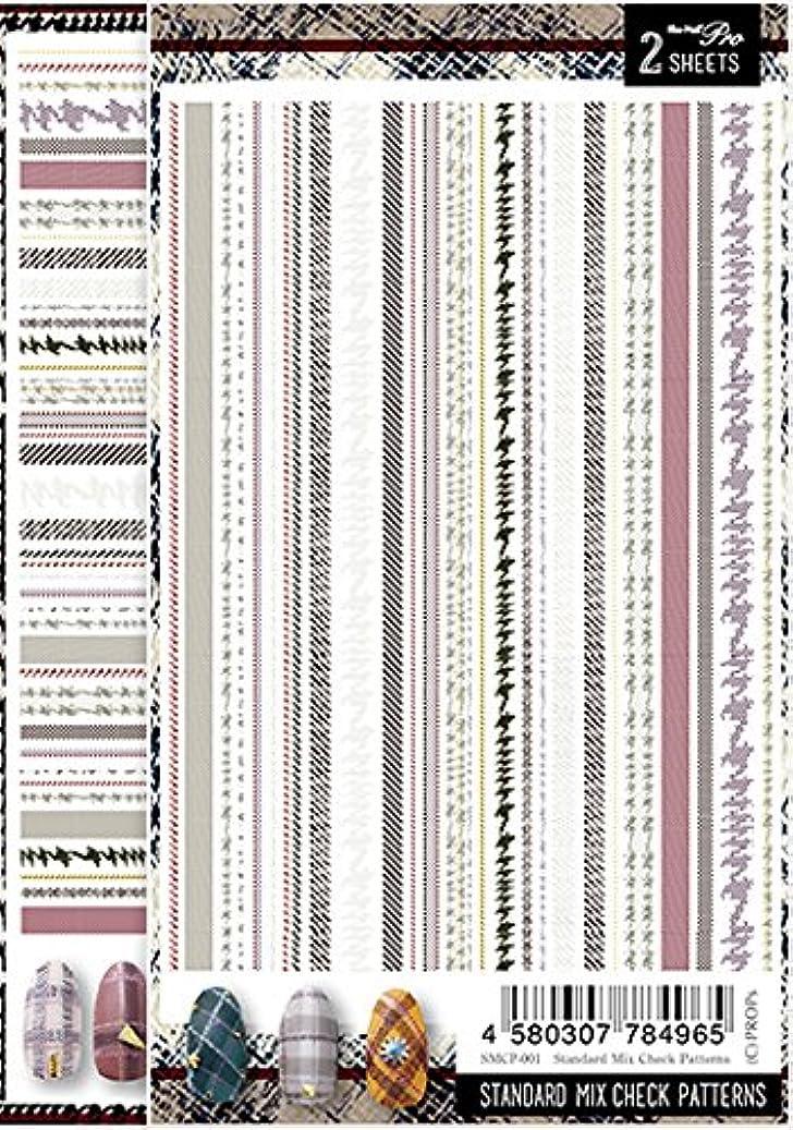 注釈を付ける愛されし者ブロックSha-Nail Pro ネイルシール スタンダードミックスチェックパターンズ SMCP-001 アート材