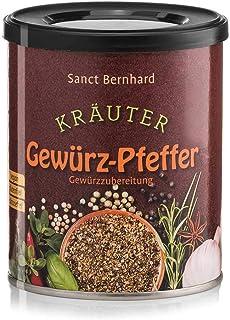 Sanct Bernhard Kräuter Gewürz-Pfeffer rein pflanzlich, glutenfrei, laktosefrei, ohne Zusätze wie Geschmacksverstärker, Rieselhilfen, künstliche Aromen, Inhalt 180 g