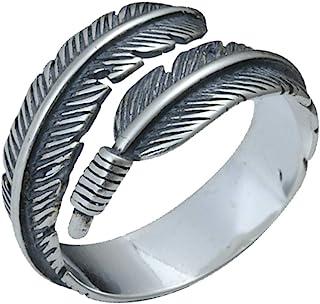Aisoway La Retro Piuma di Apertura dell'anello del Metallo di personalità degli Anelli dei monili per Le Donne
