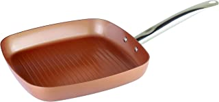 XSQUO Useful Tech Vital Copper 28 Frying Pan and Grill Iron 25 cm, Copper, 28 x 28 cm