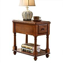 TY Bedside Table - Drawer Locker Solid Wood Coffee Table Sofa Side Tables Coffee Tables Side Table Modern Bedroom Table Fu...