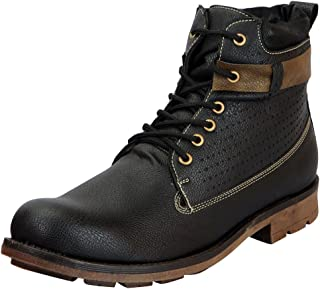 FAUSTO Men's Leather High Ankle Boots