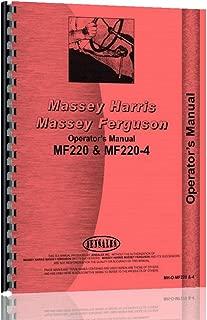 Operators Manual Massey Ferguson 220 220-4 Diesel Compact Tractor