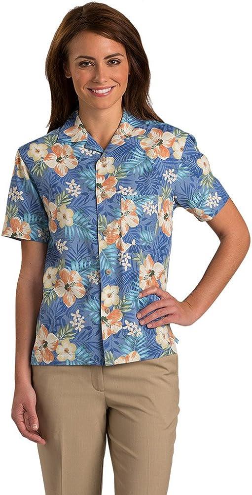 Edwards Multi-Color Hibiscus Camp Shirt