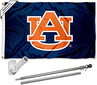auburn flag with pole