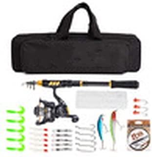 Telescopic Fishing Rod Reel Combo Full Kit 1.5/1.8/2.1/2.4m Spinning Reel Rod 100m Line Hook Lure Bag Vara de Pesca