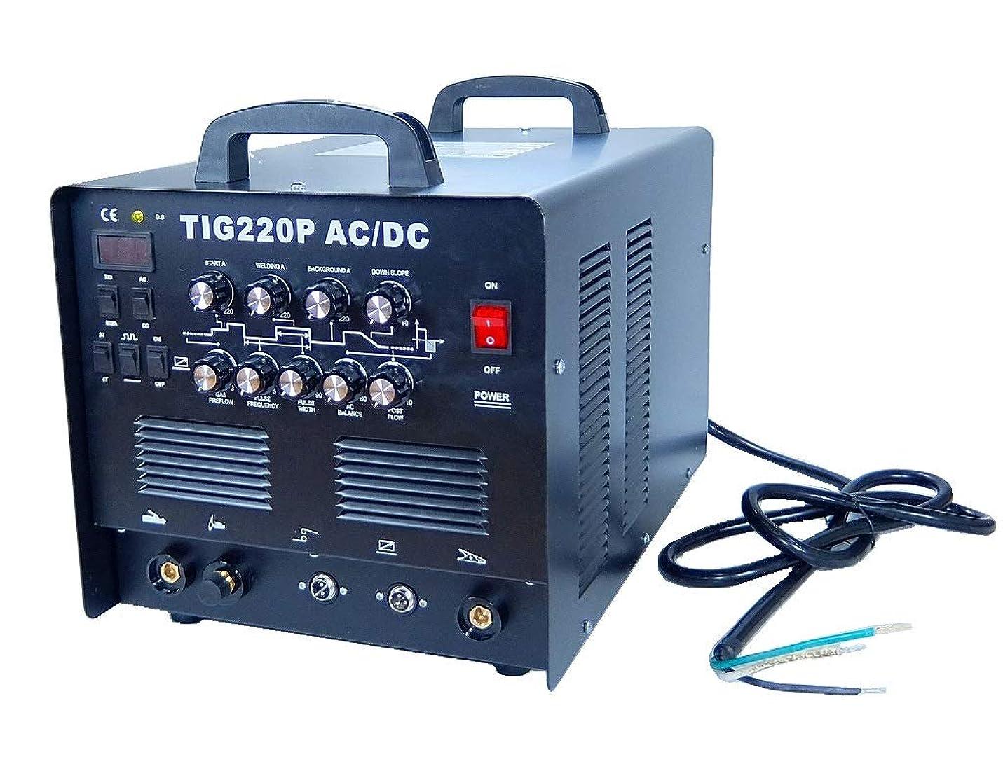 櫛合図ワイプ交流 直流 AC/DC 切替式 インバーター TIG溶接機 TIG220P!パルス溶接 アルミOK!高機能本格モデル