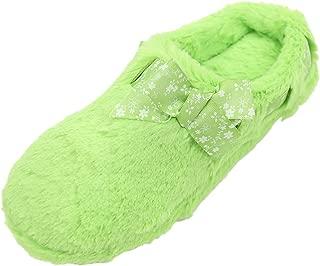 Home Slipper Women's Winter Warm Cute Bowknot Long Fleece Indoor House Scuff Slippers