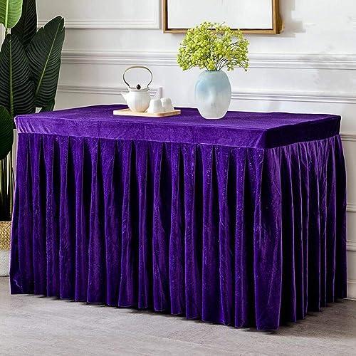 mas preferencial YQ QY Mantel Gama Alta Falda Zhuo Zhuo Zhuo Oficina Reunión Mantel Terciopelo Doraño Vajilla Fiesta La Boda Cumpleaños Fiesta Inicio Decoracion QY Mantel (Color   púrpura, Tamaño   60X180CM)  barato