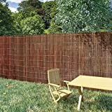 <span class='highlight'><span class='highlight'>Tidyard</span></span> Willow Fence Willow Natural Garden Fence Screening Garden Privacy & Protective Screens 5x1.7 m