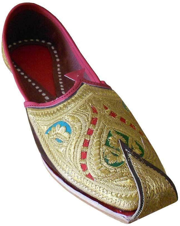 Kalra Creations Jutti Indian Men shoes Leather Mojari Loafers & Slip Ons Khussa Flat