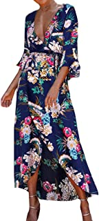 HCFKJ Faldas Mujer Tallas Grandes Remiendo De La Vendimia Ocasional Flojo Largo Boho Largo M/áS Vestido Retro Maxi