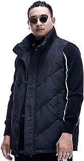 タンクトップ ベストのベストベストジャケット男性の大きなサイズの緩い冬の軍事機能の風ベストベストベストコットンジャケットプラス綿厚い取り外し可能なバックパック (Color : Black, Size : 4XL)