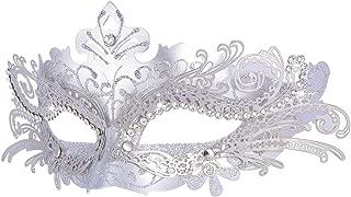 silver mardi gras mask