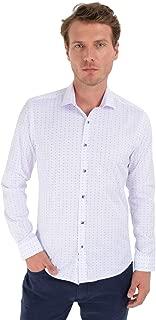 Trend Slim Fit Uzun Kollu Gömlek Beyaz