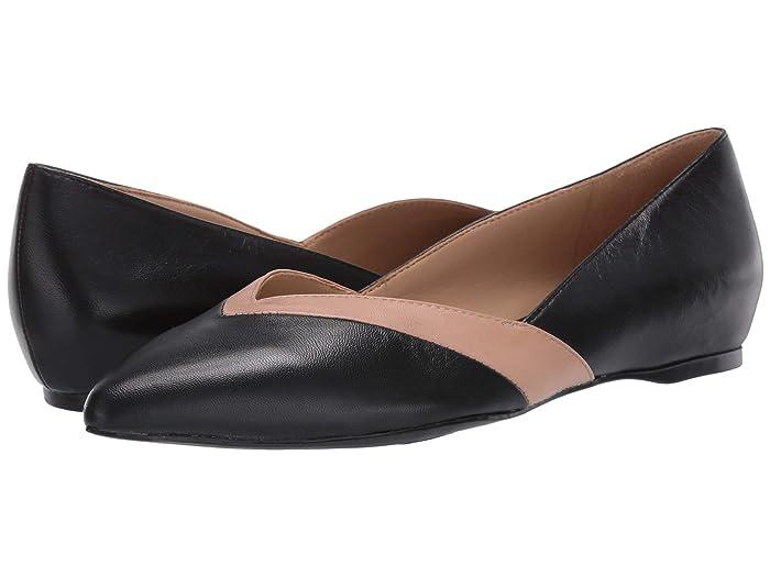 60s Shoes, Boots Naturalizer Sandara Black Nude Leather Womens Shoes $89.99 AT vintagedancer.com