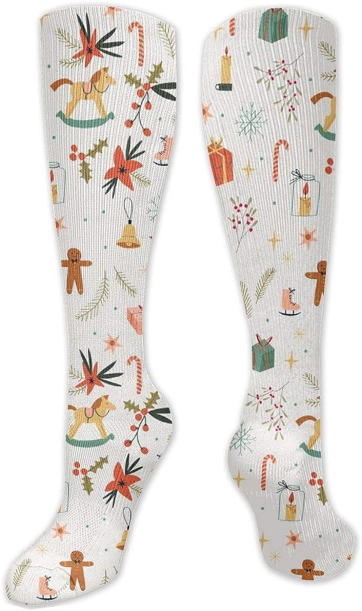 Christmas Gift Knee High Socks Leg Warmer Dresses Long Boot Stockings For Womens Cosplay Daily Wear