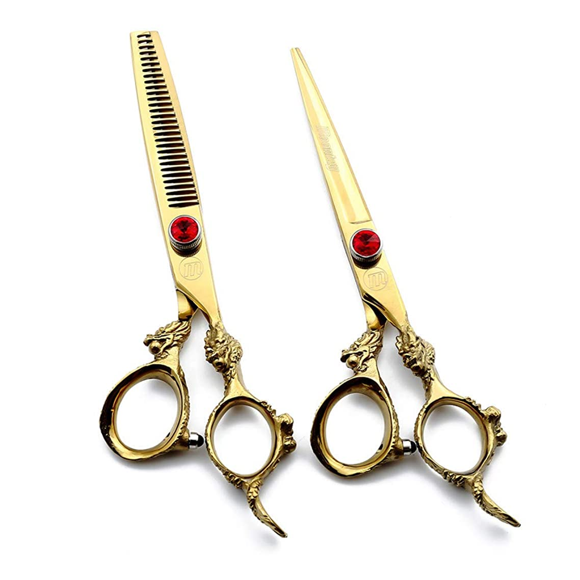 TAOUN Hairdressing Scissors Barber Shears 6 Inch Professional Dragon Handle Hair Cutting/thinning Shears for Salon Barber or Home