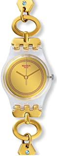 Swatch Originals Women's Gold Dial Stainless Steel Band Watch - LK346G