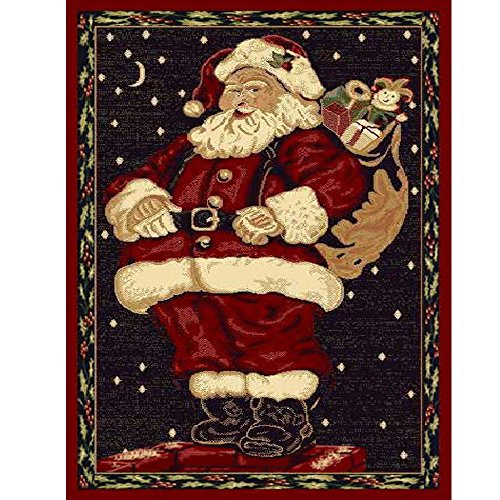Christmas Rug Holiday Décor Santa Claus Area Rug 3ft4in x 4ft6in