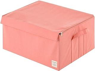 ぼん家具 収納ボックス 布製 収納ケース 衣類収納 折りたたみ 取っ手付き 収納 ボックス 箱 〔幅53cm〕 ピンク