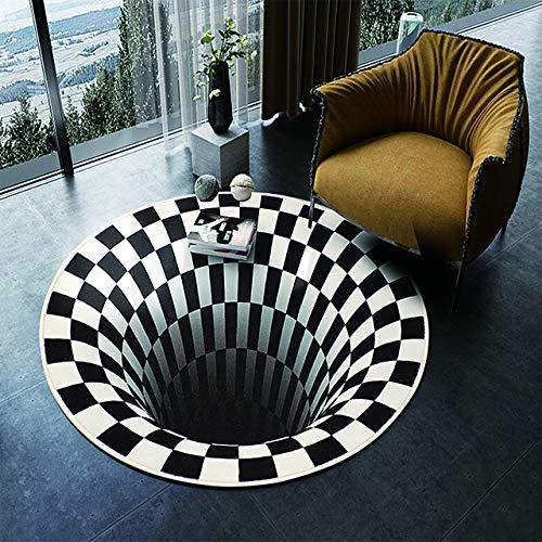 CCDSR- 3D Illusion Teppich Wohnzimmer Teppich rutschfest rutschfrei flauschig flauschig Teppich Schlafzimmer Esszimmer Teppich Türmatte Küche Bodenmatte