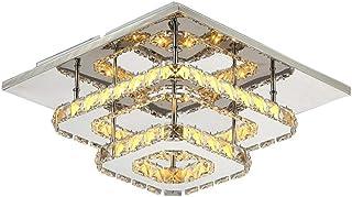 Lámpara De Techo De Cristal,Lámpara de Araña de Cristal para la sala de estar, dormitorio, pasillo,3000K 36W 30CM(luz cálida)