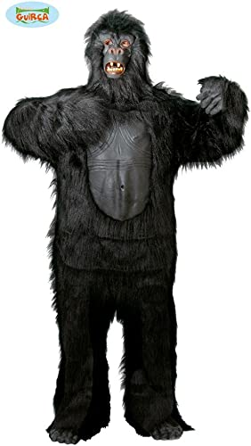 Schwarzs Gorilla Kostüm für Erwachsene Gr. M L, Größe L