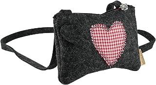 BIOZOYG Annerl Dirndl Tasche Filz mit Schultergurt 140 cm I Damen Trachten-Tasche aus 100% Natur-Filzwolle (Merinowolle) m...