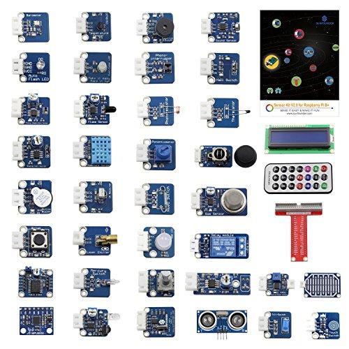 SUNFOUNDER 37 Module Sensor Kit V2.0 für Raspberry Pi 4B, 3, 2 und RPi Model B+, 40-Pin GPIO Extension Board Jump Wires (MEHRWEG)