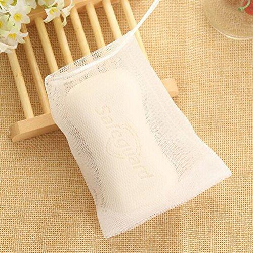 Frcolor 10pcs Seife Tasche Doppelschicht Blase Schaum Net einfach Bubble Mesh Taschen Körper Gesichtsbehandlung Reinigung von Werkzeugen