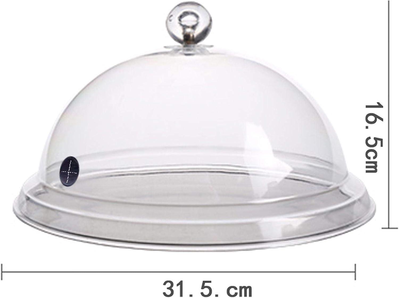 3 Tailles osmanthus Couvercle de D/ôme Cloche Acrylique de qualit/é Alimentaire Transparent Cloche Fumoir avec Valve Permet lentr/ée de fum/ée