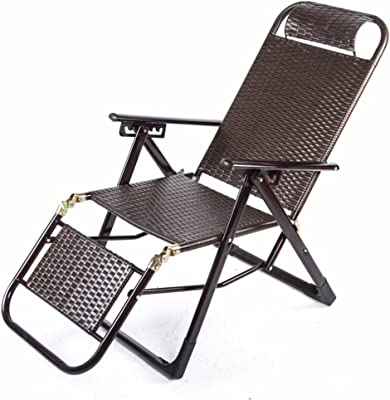 Amazon.com : Folding Recliner Chair Rattan Deck Chairs Zero ...