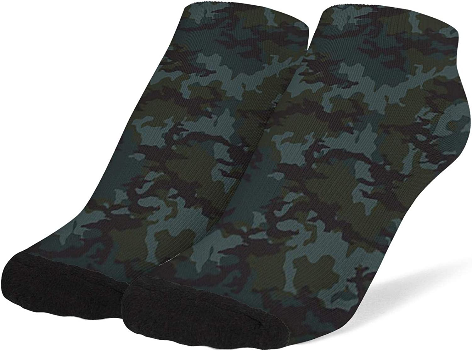 Women Army Fashionable Camouflage Socks Cotton No Show Low Cut Socks Ankle Sock