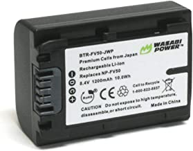 Wasabi Power Battery for Sony NP-FV30, NP-FV40, NP-FV50 and Sony DCR-SR15, SR21, SR68, SR88, SX15, SX21, SX44, SX45, SX63, SX65, SX83, SX85, FDR-AX100, HDR-CX105, CX110, CX115, CX130, CX150, CX155, CX160, CX190, CX200, CX210, CX220, CX230, CX260V, CX290, CX300 , CX305, CX330, CX350V, CX360V, CX380, CX430V, CX520V, CX550V, CX560V, CX580V, CX700V, CX760V, CX900, HC9, PJ10, PJ30V, PJ50, PJ200, PJ230, PJ260V, PJ340, PJ380, PJ430V, PJ540, PJ580V, PJ650V, PJ710V, PJ760V, PJ790V, PJ810, TD20V, TD30V, XR150, XR155, XR160, XR260V, XR350V, XR550V, HXR-NX30U, NX70U