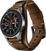 Balerion Cuff Genuine Leather Watch Band,Compatible with Galaxy Watch 46mm,Gear S3,fssil Q Explorist/Q Marshal Gen 2 and Other Standard 22mm Band Width Watch,Coffee