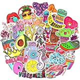 VSCO Stickers Cute Stickers for Hydroflask Stickers Waterproof Girls Aesthetic Stickers for Tween Girls Gifts Laptop Stickers for Teen Girls Stickers Packs 50Pcs