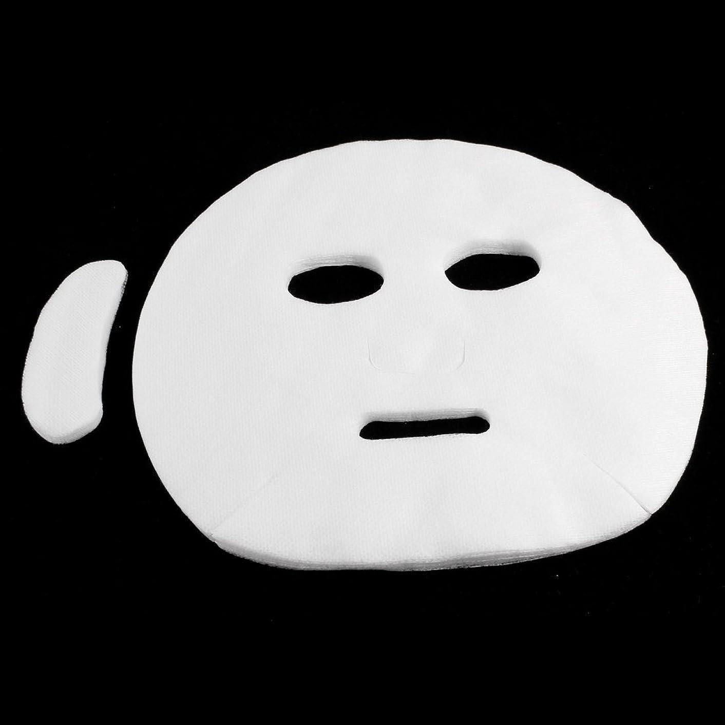 温かいコンバーチブル専制ペーパーフェイシャルマスクシート メイクアップツール 使い捨て ホワイト 女性 19枚入り