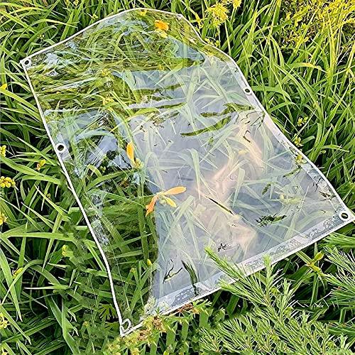 U/D Lonas Impermeables Exterior, Cubierta De Planta De Lona Transparente De PVC, Toldo A Prueba De Lluvia para Toldo Al Aire Libre, Patio, Jardín,Clear,1.5x2m